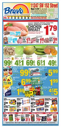 Grocery & Drug deals in the Bravo Supermarkets weekly ad in Miami FL