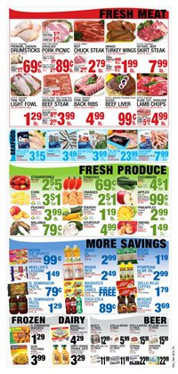Fruit deals in the Bravo Supermarkets weekly ad in Miami FL