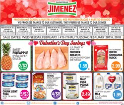 Carnicerias Jimenez deals in the Highland Park IL weekly ad