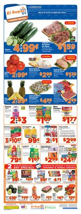 Grocery & Drug deals in the El Super weekly ad in Santa Ana CA