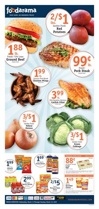 Foodarama deals in the Houston TX weekly ad