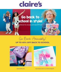 Clothing & Apparel deals in the Claire's catalog ( Published today)