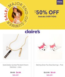 Claire's deals in the Claire's catalog ( 2 days left)