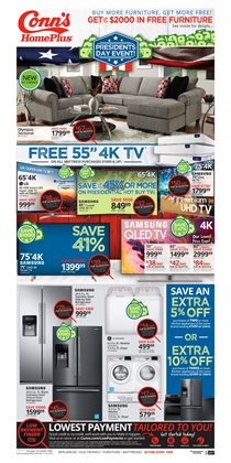 TV deals in the Conn's Home Plus weekly ad in Baytown TX