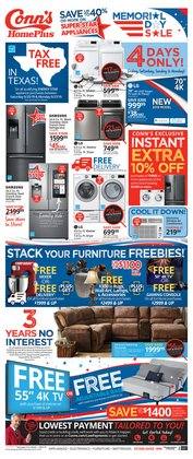Conn's Home Plus deals in the Houston TX weekly ad