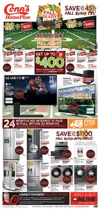Conn's Home Plus deals in the Dallas TX weekly ad