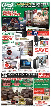 Electronics & Office Supplies deals in the Conn's Home Plus weekly ad in Sugar Land TX