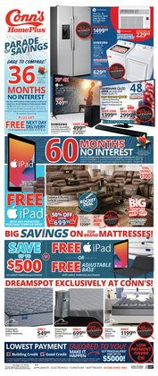 Electronics & Office Supplies deals in the Conn's Home Plus catalog ( Published today)