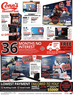 Electronics & Office Supplies deals in the Conn's Home Plus catalog ( 4 days left)