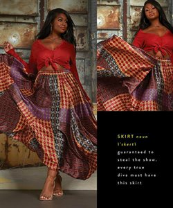 Skirt deals in the Ashley Stewart weekly ad in New York