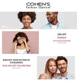 Opticians & Sunglasses offers in the Cohen's Fashion Optical catalogue ( 15 days left )