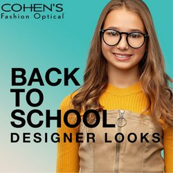 Opticians & Sunglasses deals in the Cohen's Fashion Optical catalog ( Published today)