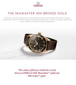 Jewelry & Watches deals in the Omega catalog ( 11 days left)