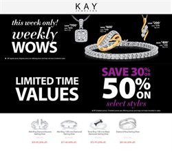 Jewelry & Watches deals in the Kay Jewelers weekly ad in Columbus IN