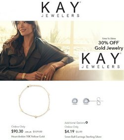Kay Jewelers deals in the Kay Jewelers catalog ( Expires tomorrow)