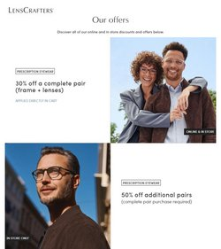 Opticians & Sunglasses deals in the LensCrafters catalog ( 12 days left)