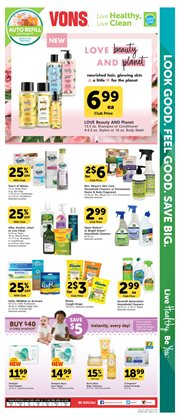 Gel deals in the Vons weekly ad in Los Angeles CA