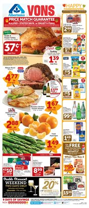 Vons deals in the Yorba Linda CA weekly ad