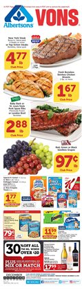Vons deals in the Riverside CA weekly ad