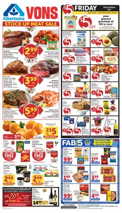 Vons deals in the Santa Ana CA weekly ad