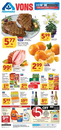 Grocery & Drug offers in the Vons catalogue in San Luis Obispo CA ( Expires today )