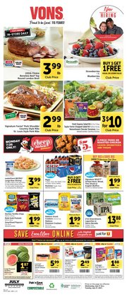 Grocery & Drug deals in the Vons catalog ( Expires today)
