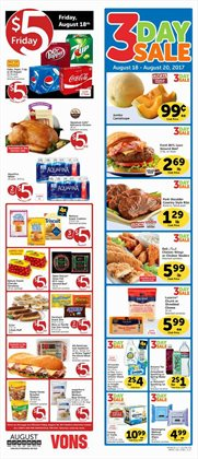 Vons deals in the Spokane WA weekly ad