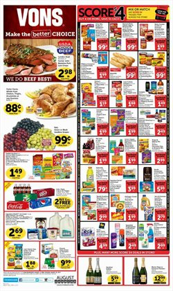 Vons deals in the Houston TX weekly ad