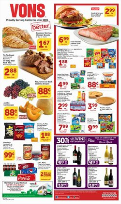 Grocery & Drug deals in the Vons weekly ad in Dallas TX