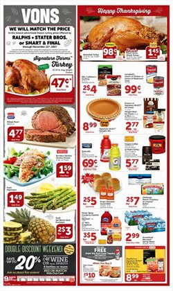 Vons deals in the Las Vegas NV weekly ad
