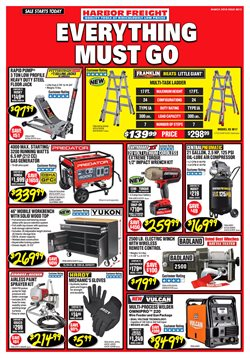 Tools & Hardware deals in the Harbor Freight Tools weekly ad in Yorba Linda CA