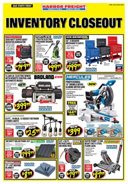Tools & Hardware deals in the Harbor Freight Tools weekly ad in Los Angeles CA