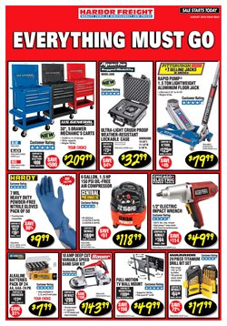 Harbor Freight Tools deals in the Concord CA weekly ad