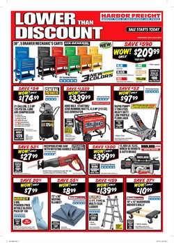 Generator deals in the Harbor Freight Tools weekly ad in San Antonio TX