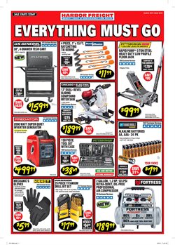 Air compressor deals in the Harbor Freight Tools weekly ad in New York