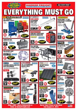 Harbor Freight Tools deals in the Harlingen TX weekly ad
