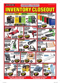 Harbor Freight Tools deals in the Pomona CA weekly ad