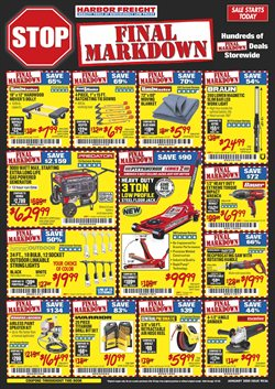 Harbor Freight Tools deals in the Manteca CA weekly ad