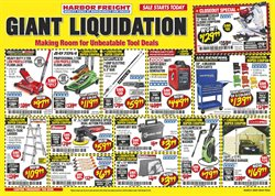 Tools & Hardware offers in the Harbor Freight Tools catalogue in Riverside CA ( Expires tomorrow )