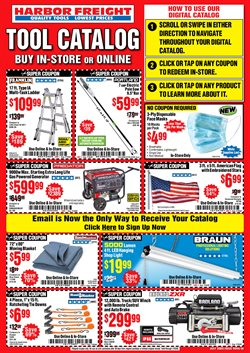 Tools & Hardware offers in the Harbor Freight Tools catalogue in San Pedro CA ( 12 days left )