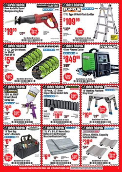 Exhaust deals in Harbor Freight Tools