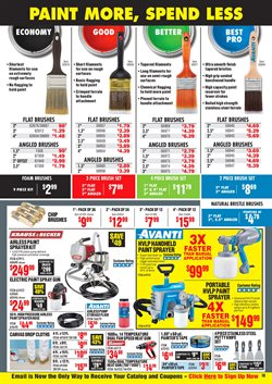 Paint deals in Harbor Freight Tools