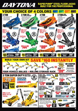 Cars deals in Harbor Freight Tools