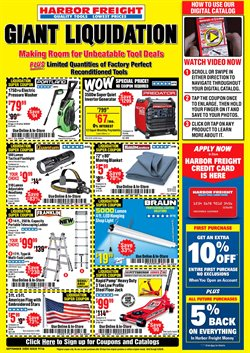 Tools & Hardware offers in the Harbor Freight Tools catalogue in Chula Vista CA ( 8 days left )