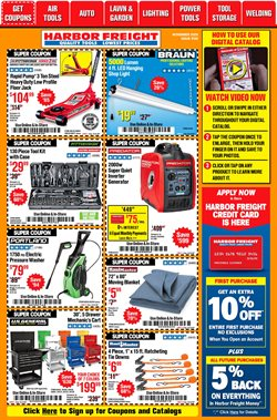 Generator deals in Harbor Freight Tools