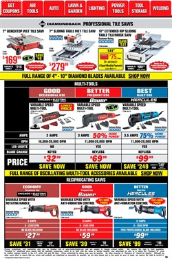 Porter-Cable deals in Harbor Freight Tools