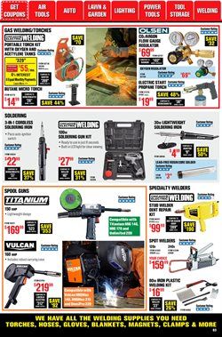 Iron deals in Harbor Freight Tools