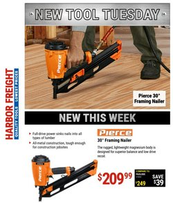 Tools & Hardware deals in the Harbor Freight Tools catalog ( Expires today)