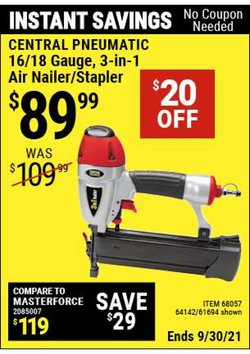 Tools & Hardware deals in the Harbor Freight Tools catalog ( Expires tomorrow)