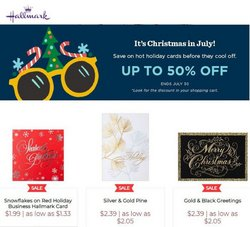 Gifts & Crafts deals in the Hallmark catalog ( Expires tomorrow)